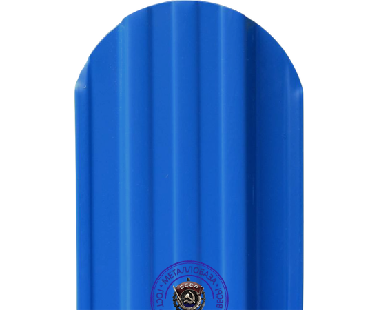 Евроштакетник Металлический Штакетник 108 мм, Синий